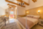 Romantic bedroom at Carpathian Log Home