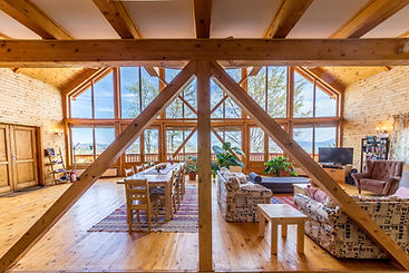 Carpathian Log Home living room