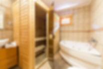 Sauna & jacuzzi in Bran chalet