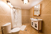 Junior suite bathroom Carpathian Log Home