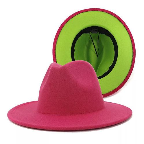 Two Tone Fedora Hat