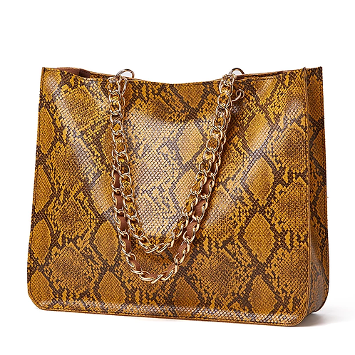 Big Snake Skin Shoulder Bag