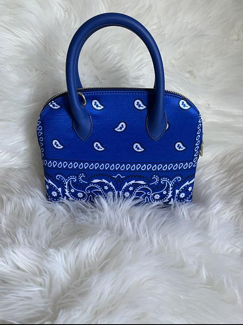 Blue Bandanna Bag