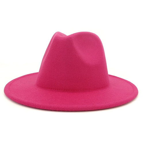 Basic Solid Fedora Hat