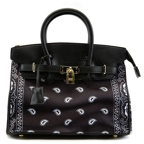 Paisley Purse-Black