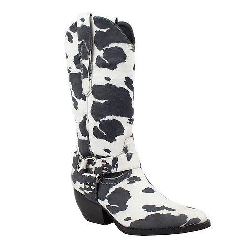 Cow Print Booties