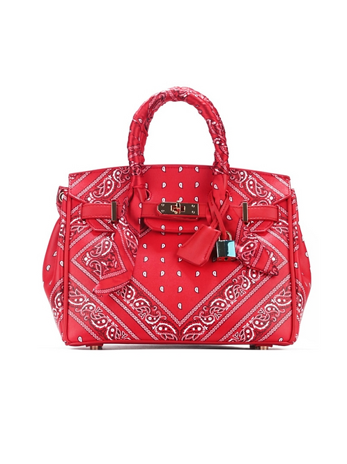 Paisley Purse-Red