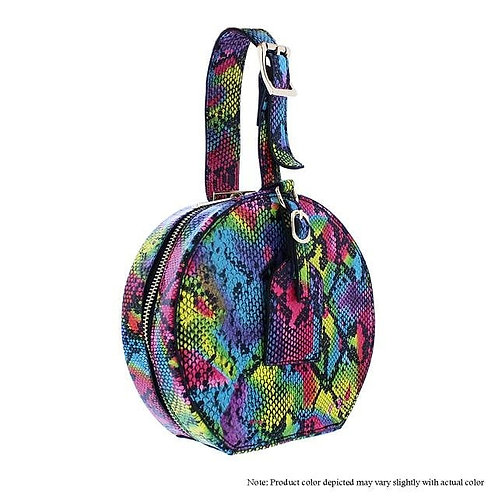 Multi Snake Mini Round Handbag