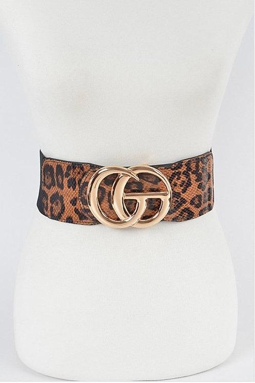 Leopard Elastic Belt