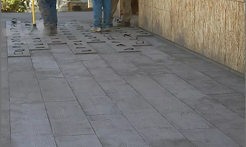 Stamped Concrete Sidewalk Houston