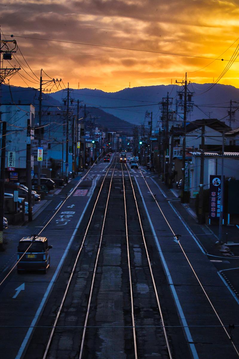 東田陸橋より東を望む