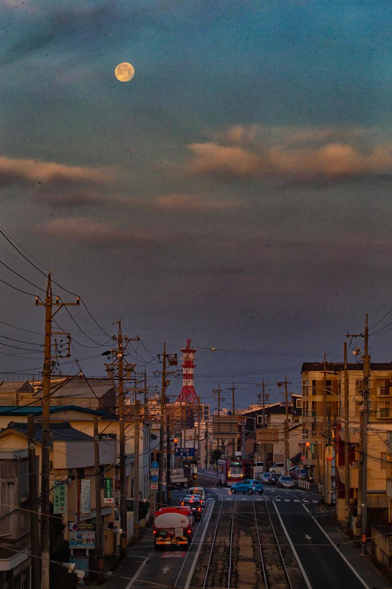 東田陸橋より西を望む