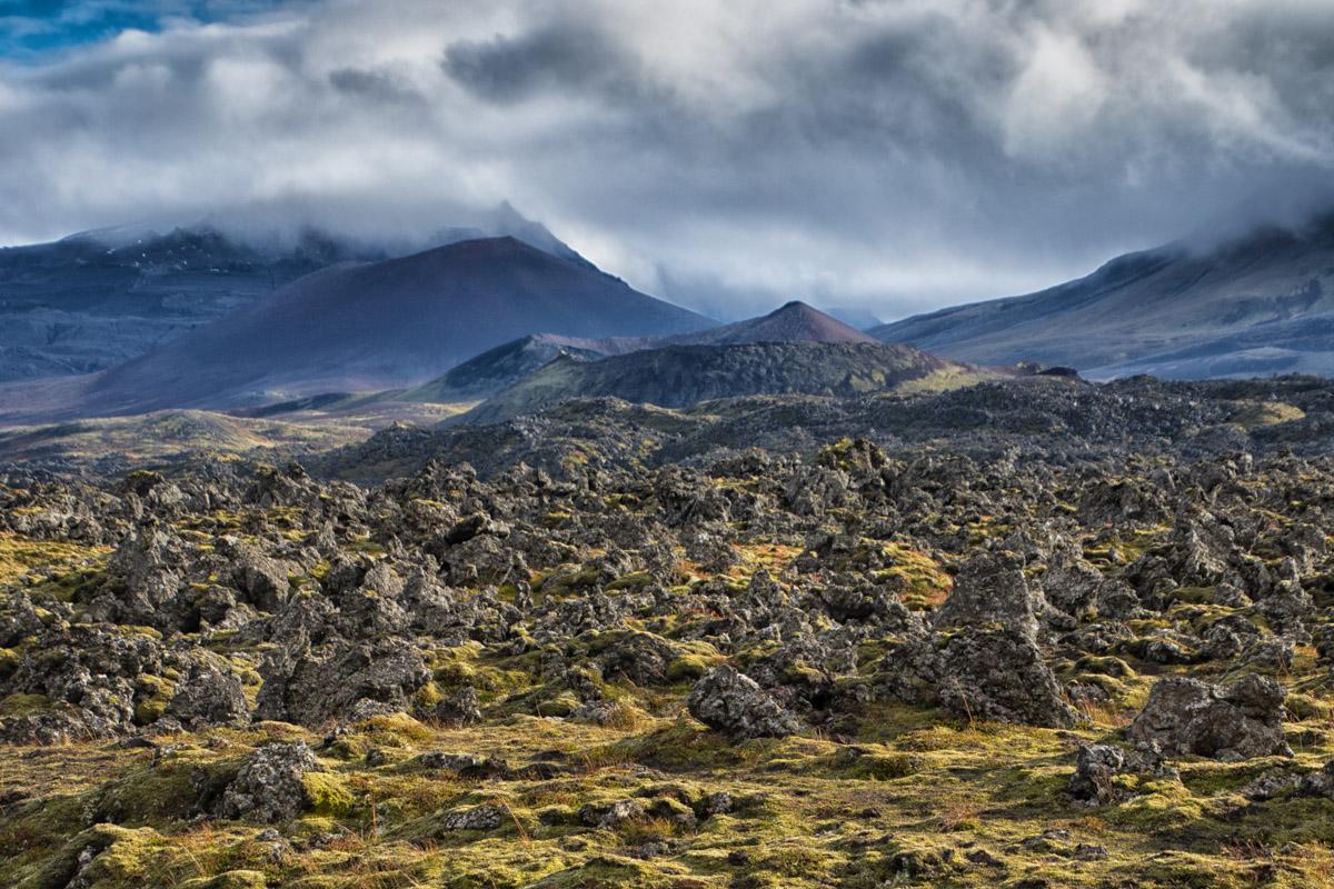アイスランド西部・溶岩地帯