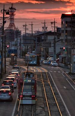 東田電停付近