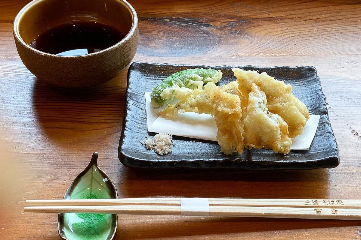 天ぷらそば(温)の天ぷら