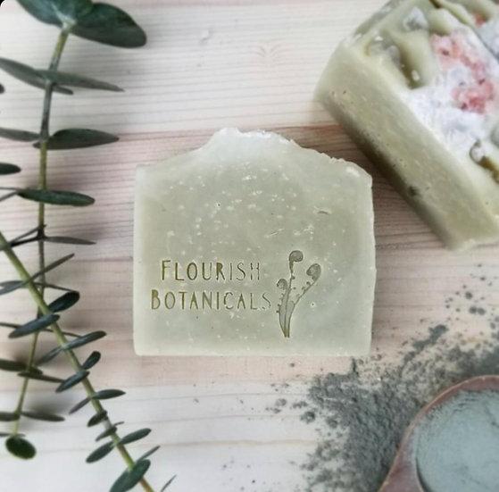 Flourish Botanicals Soap Bar- Eucalyptus + Sea Clay