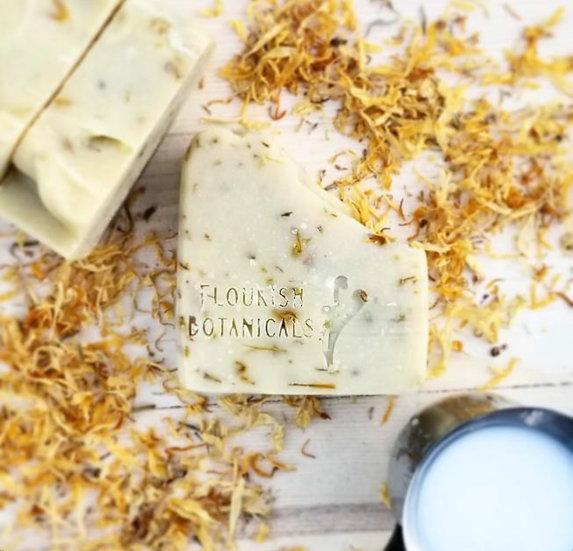 Flourish Botanicals Soap Bar- Unscented Coconut Milk + Calendula