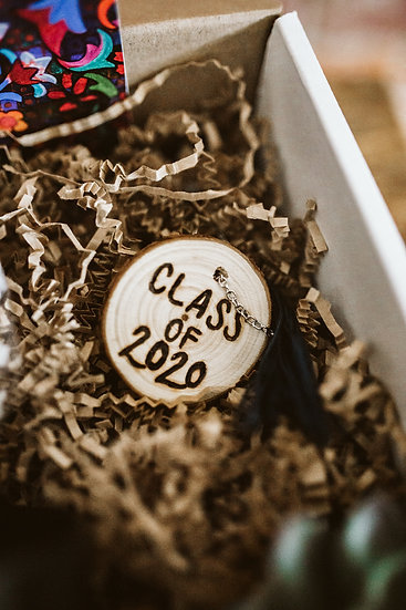 Ink and Embers Class of 2020 Wooden Keychain