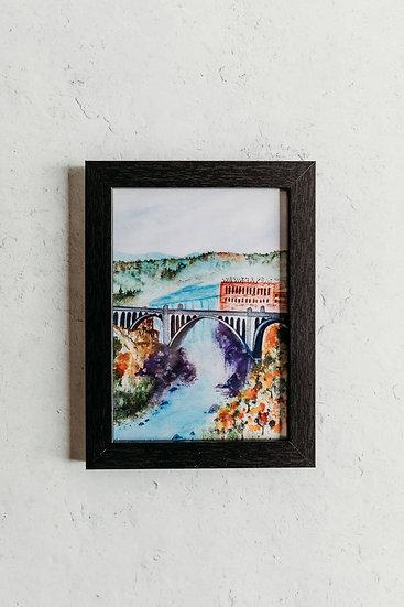 Holly Paints Things Framed Spokane Watercolor