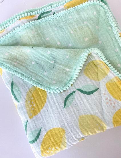 Gigi N Me Muslin Swaddle Blanket- Lemon