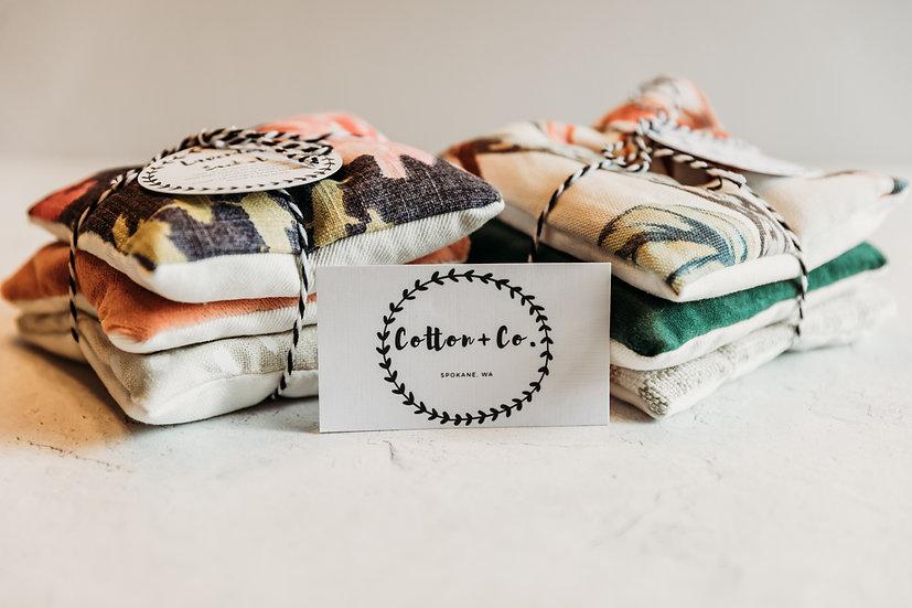 Cotton + Co Lavender Sachet Pillow Stack