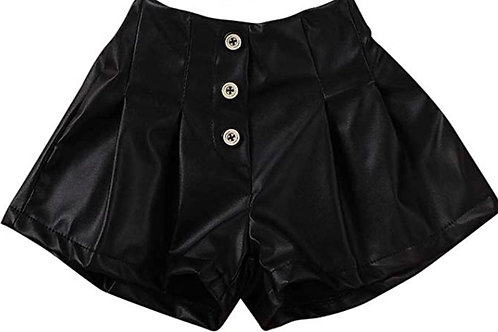 So Trendy Faux leather shorts