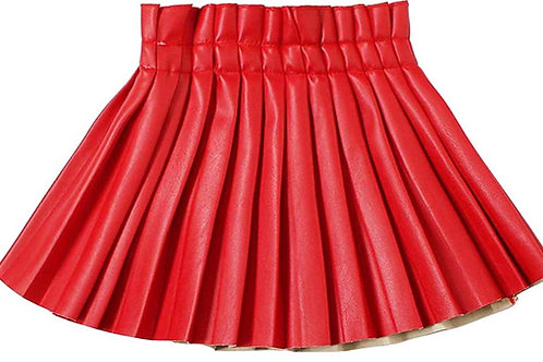Bring It Faux Leather Skirt