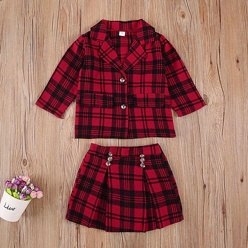 Perfect In Plaid Two Piece Set