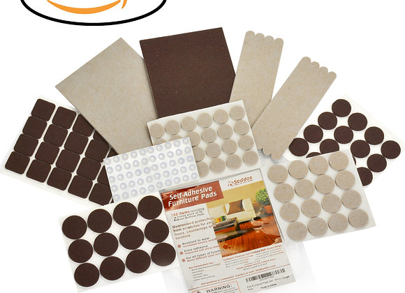 Seddox PREMIUM Felt Furniture Pads Large Set - 152 pieces (Brown + Beige)