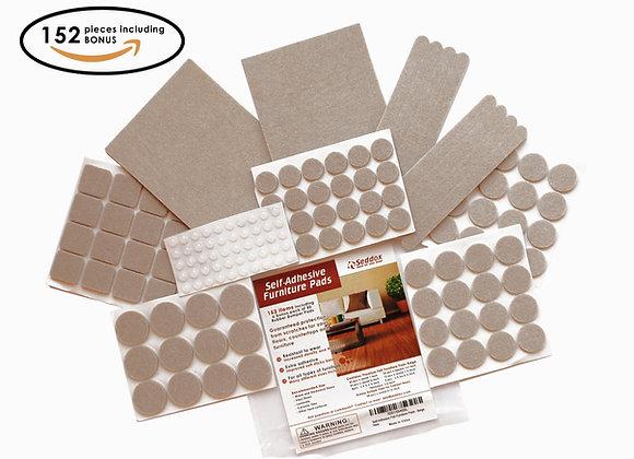 Seddox PREMIUM Felt Furniture Pads Large Set - 152 pieces with Bonus