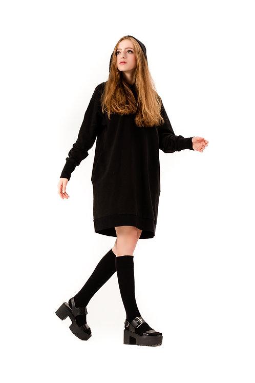 Sukienka / Bluza reglanowa z kapturem