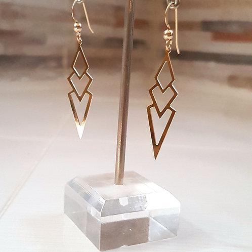 עגילים גולדפילד. Goldfilled earrings