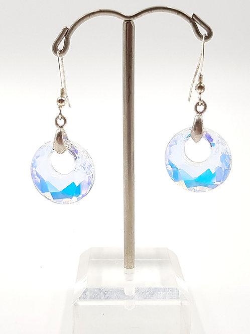 חרוז קריסטל Swarovsky עגול. Clear Swarovsky crystal