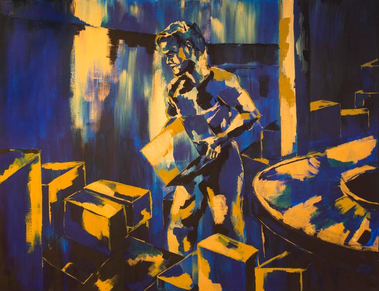 Acrylic paint on linen canvas, 180 cm x 140 cm, 2019