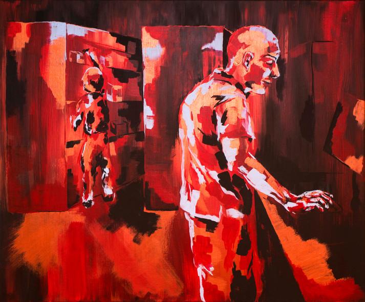 Acrylic paint on linen canvas, 150 cm x 100 cm, 2019