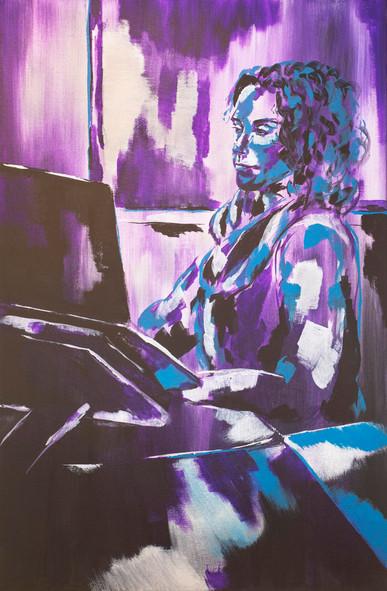 Acrylic paint on linen canvas, 70 cm x 90 cm, 2019