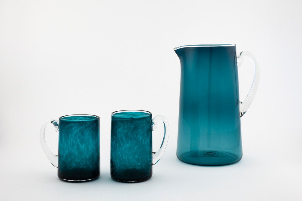 Peak Teal Pitcher Set