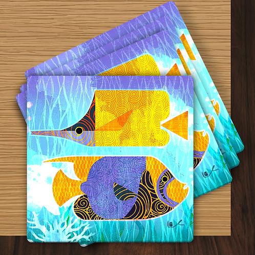 'Crazy Fish' Coasters