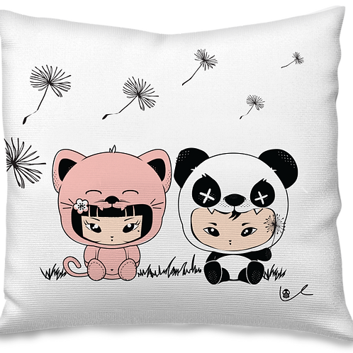 'Panda / Kitten' Pillow