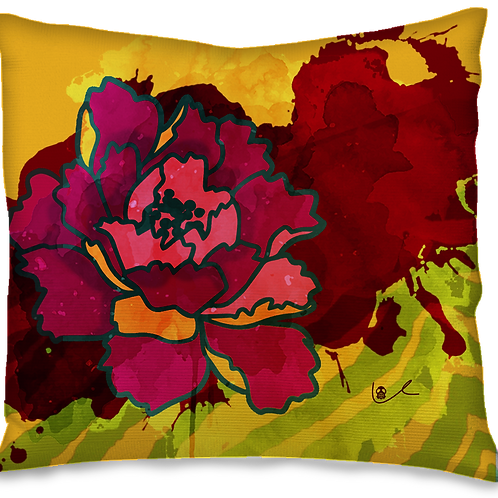 'California Peony' Pillow