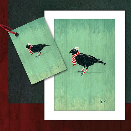 'Corvid's First Christmas' Card + Tag Bundle / 24pcs