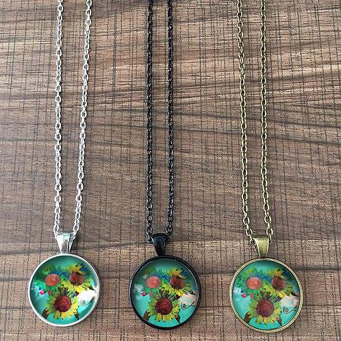 'Psilocyben Sunflowers' Necklace