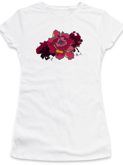 'California Peony' Womens T-Shirt