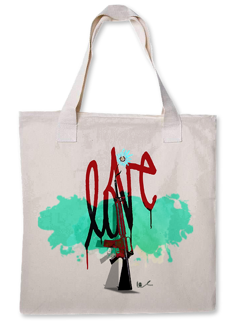'Love To War' Canvas Tote