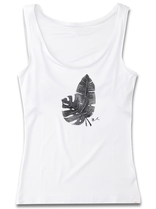 'Tropical Leaves' Womens Tank