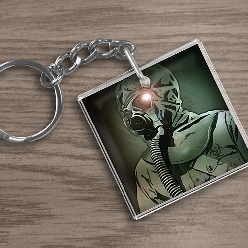 'Just Breathe' Keychain