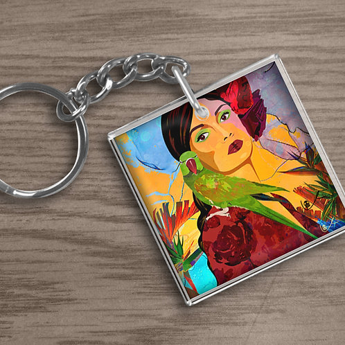 'Birds of Paradise' Keychain