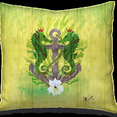 'Sovereign Seahorses' Pillow