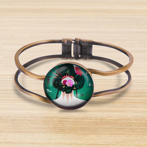 'Backside Beauty' Bezel Hinge Bracelet