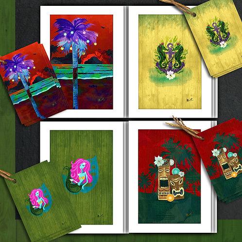 Tropically Flavored Greetings Card + Tag Bundle / 24pcs